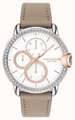 Coach Arden pour femmes | bracelet veau pierre | cadran en cristal blanc 14503733