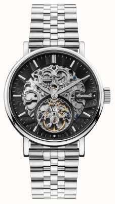 Ingersoll | le charles automatique | cadran squelette noir | bracelet en acier I05804B