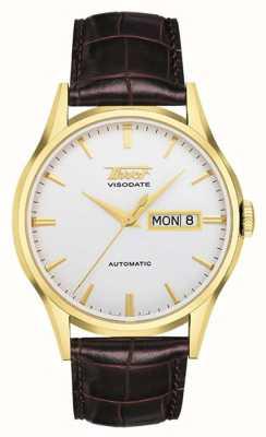 Tissot Visodate d'héritage pour hommes automatique | bracelet en cuir marron T0194303603101