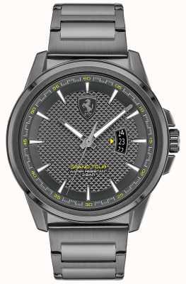 Scuderia Ferrari Grand tour des hommes | bracelet en acier ip gris | cadran gris 0830836