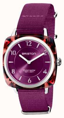 Briston Clubman chic | cadran cardinal 36 mm en or rose | bracelet nato cardinal 21536.PRA.UR.32.NC