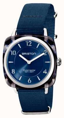 Briston Clubman chic | cadran bleu marine argenté de 36 mm | bracelet nato bleu marine 21536.SA.UB.33.NMB