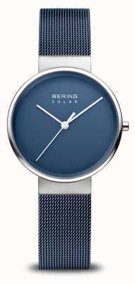 Bering Montre solaire femme bleu marine 14331-307