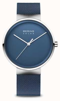 Bering Bracelet homme maille bleu solaire 14339-307
