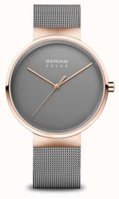 Bering Montre solaire homme or rose/gris 14339-369
