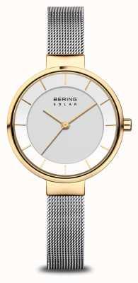 Bering Montre solaire femme or/argent 14631-024
