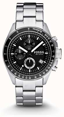Fossil Gents argent chronographe montre de mode CH2600IE