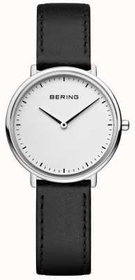 Bering Montre classique à bracelet en cuir noir pour femme 15729-404