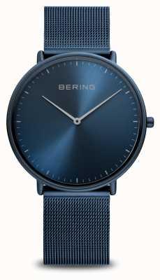 Bering Bracelet classique en maille d'acier bleu 15739-397