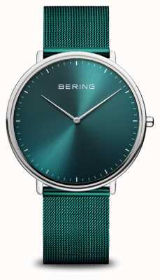 Bering Montre-bracelet classique en maille milanaise verte 15739-808