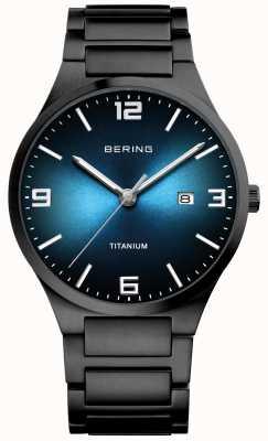 Bering Montre homme en titane plaqué noir 15240-727