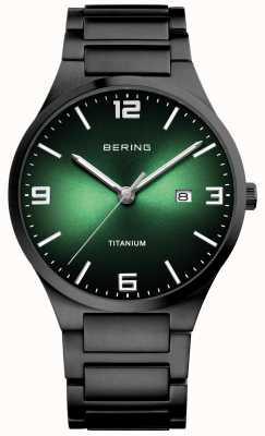 Bering Montre homme cadran vert titane 15240-728