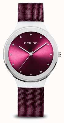 Bering Classique | femmes | argent poli | maille violette 12934-909