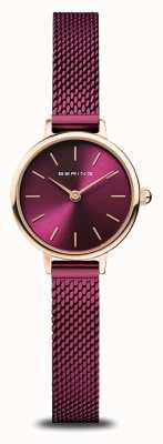Bering Classique   femmes   or rose poli   maille violette 11022-969