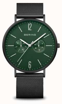 Bering Classique | hommes | noir mat | bracelet en maille noire 14240-128