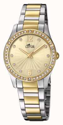 Lotus Bracelet montre femme acier or et argent L18384/1