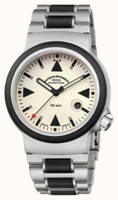 Muhle Glashutte La lumière de la minuterie de sauvetage sar   bracelet M1-41-08-MB