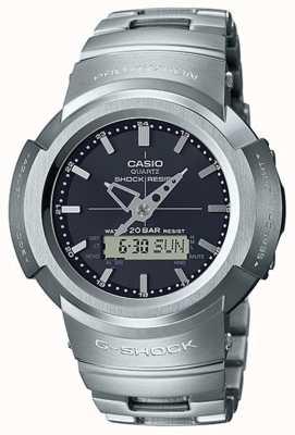 Casio G-shock | bracelet entièrement en métal | cadran noir | controlé par radio AWM-500D-1AER