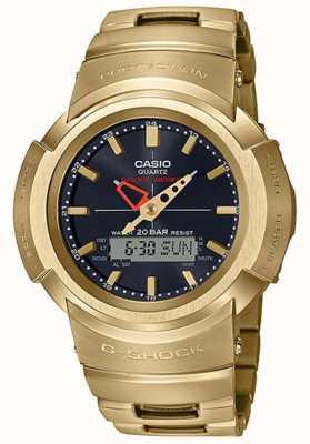 Casio G-shock | bracelet entièrement en métal | plaqué or | controlé par radio AWM-500GD-9AER