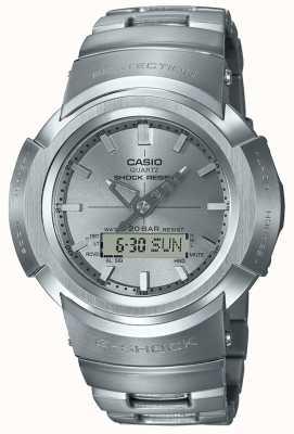 Casio G-shock | bracelet entièrement en métal | controlé par radio AWM-500D-1A8ER