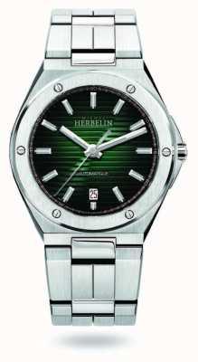 Michel Herbelin Cap camarat | automatique | cadran vert | acier inoxydable 1645/B16