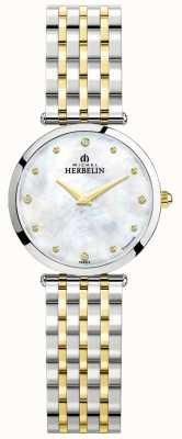 Michel Herbelin Epsilon | cadran en nacre | bracelet en acier bicolore 17116/BT89