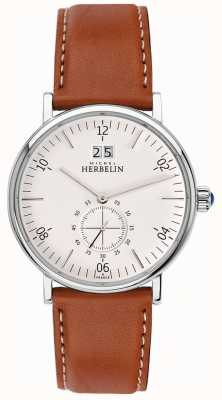 Michel Herbelin Inspiration | cadran crème | bracelet en cuir marron 18247/11GO