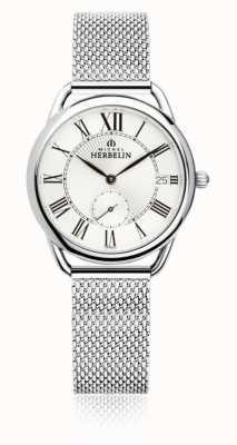 Michel Herbelin Équinoxe | cadran argenté | bracelet en maille d'acier inoxydable 18397/08B