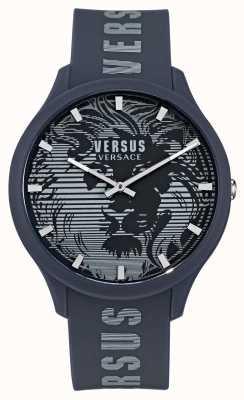 Versus Versace Montre homme domus bleu bracelet en silicone VSP1O0221