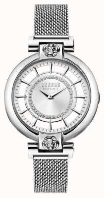 Versus Versace Bracelet femme en acier inoxydable maille lac argentée VSP1H0521