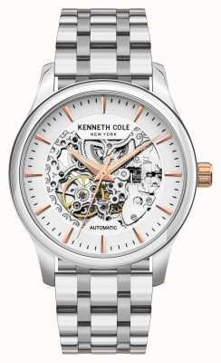 Kenneth Cole Automatique | cadran argenté | bracelet en acier inoxydable KC10027198A