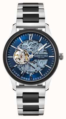 Kenneth Cole Automatique | cadran bleu foncé | bracelet en acier inoxydable bicolore KC50224001B