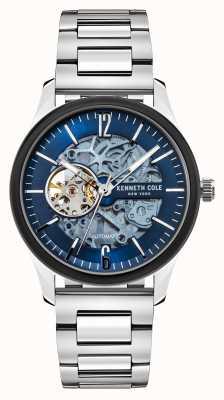 Kenneth Cole Automatique | cadran bleu foncé | bracelet en acier inoxydable KC50224001C