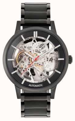 Kenneth Cole Automatique | cadran noir | bracelet en acier inoxydable noir KC50559002