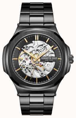 Kenneth Cole Automatique | cadran noir | bracelet en acier inoxydable noir KC51017007