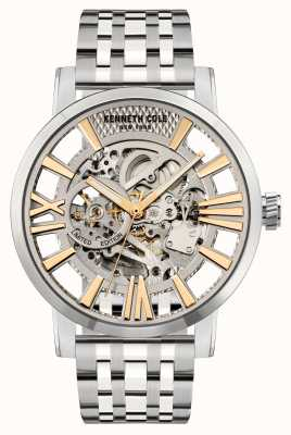Kenneth Cole Cadran argenté automatique | bracelet en acier inoxydable KC51018021A