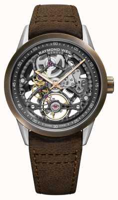 Raymond Weil Freelancer | bronze | automatique | bracelet en cuir marron 2785-SBC-60000