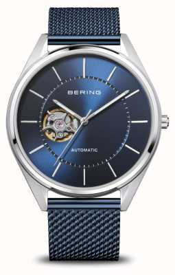 Bering Automatique | hommes | argent poli / brossé | cadran bleu 16743-307