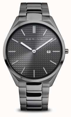 Bering Ultra mince | hommes | gris poli / brossé | cadran gris 17240-777