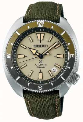 Seiko Prospex | édition de la terre «tortue» | bracelet vert SRPG13K1