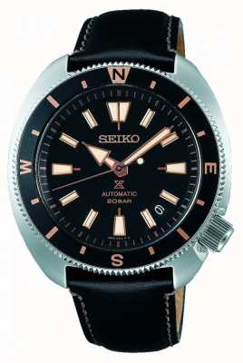 Seiko Prospex | édition de la terre «tortue» | bracelet en cuir noir SRPG17K1