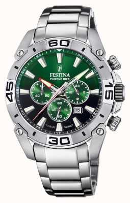 Festina Chronobike 2021 | cadran vert | bracelet en acier inoxydable F20543/3