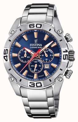 Festina Chronobike 2021 | cadran bleu marine | bracelet en acier inoxydable F20543/4