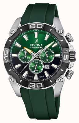 Festina Chronobike 2021 | cadran vert | bracelet en silicone vert F20544/3
