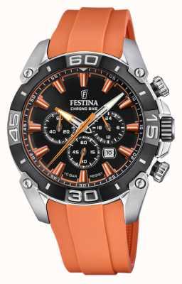 Festina Chronobike 2021 | cadran noir | bracelet en silicone orange F20544/5
