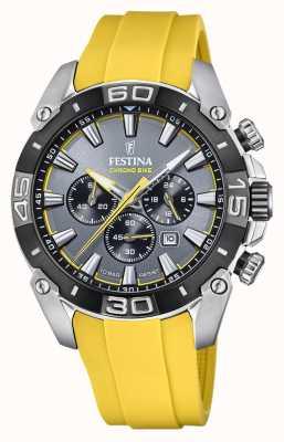 Festina Chronobike 2021 | cadran gris | bracelet en silicone jaune F20544/7