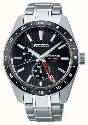 Seiko Cadran noir GMT Presage Sharp Edge SPB221J1