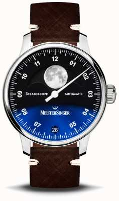 MeisterSinger Bracelet en cuir Stratoscope 43 mm ST982
