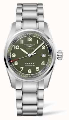 Longines Bracelet en acier inoxydable à cadran vert esprit L38104036