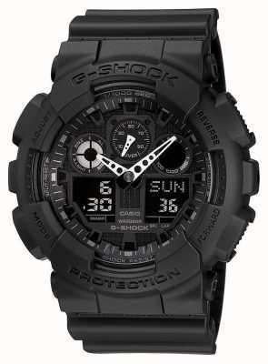 Casio alarme chronographe G-choc noir GA-100-1A1ER